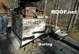 Image of Chimney Leak Repair in process