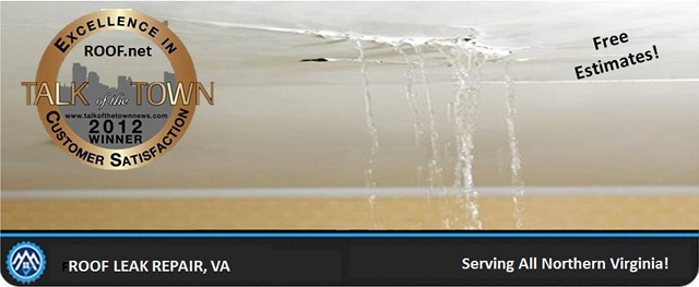 Image of when a roof leak repair is needed in Virginia