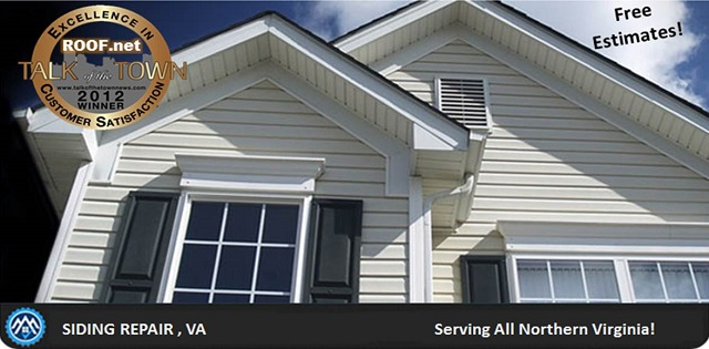 Photo of completed siding repair in Virginia