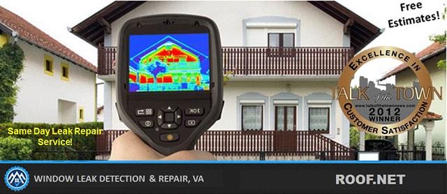 Image shows window Leak Repair estimates in Virginia through Infrared
