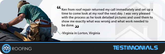 Roof Repair Lorton Testimonial