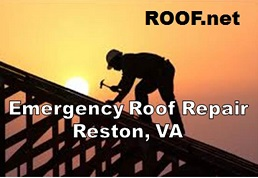 Image of a roofer doing Emergency Roof repair Reston Virginia