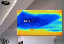 Image of a Lansdowne Roof Leak Repair in Virginia Seen Through Infrared