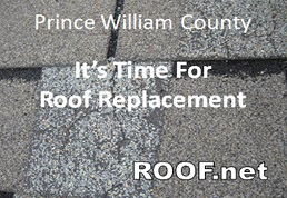 Photo of damaged shingles when Roof Replacement is needed in Prince William County