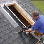 Photo of a roofer doing a Skylight Leak Repair in Round Hill Virginia