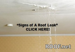 Here is an image when a roof leak in Loudoun County Virginia Happens