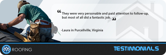 Roof Repair Purcellville, VA Testimonial