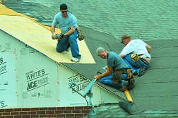 When we prepare the roof for shingles we are always careful with what goes under them also