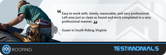 Roof Repair South Riding, VA Testimonial