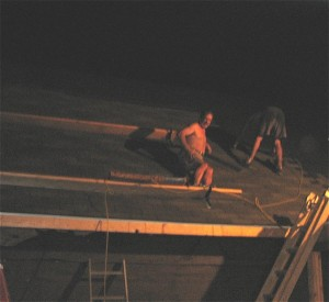 Image of our Roof Repair Contractors Never Sleep during an emergency situation in Virginia