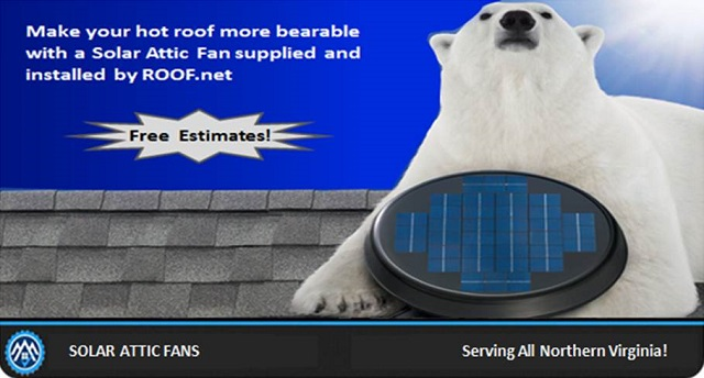 Image of a Solar Attic Fan Installation Repair in Virginia