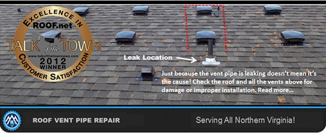 Roof vent pipe repair in Virginia can be very tricky
