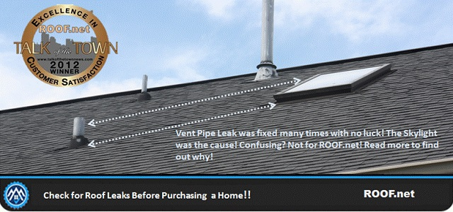 check for roof leaks before puchasing home in Fairfax Virginia