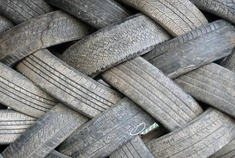 Tires in a jumble