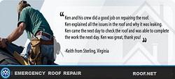 Emergency Roof Repair Image of a Roofer in Virginia