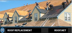 Image of our roofers performing a Roof Replacement in Virginia