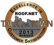 Roof.net 2013 Talk of the town award