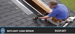 Image of a roofer performing Skylight Leak Repair in Virginia