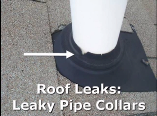 Semi-Annual Roof Inspection For Old Pipe Collars