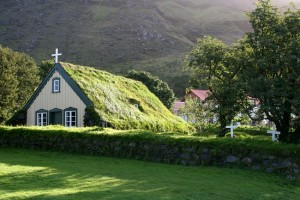 green roof church