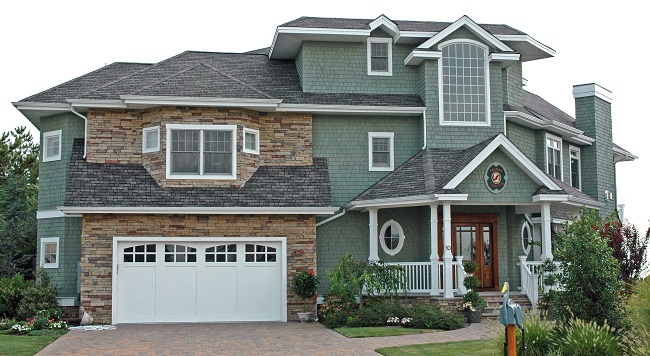 asphalt shingles house