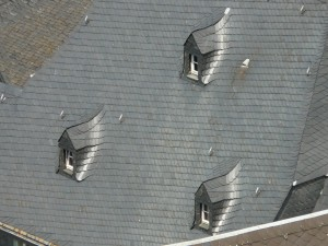 slate roof slanted