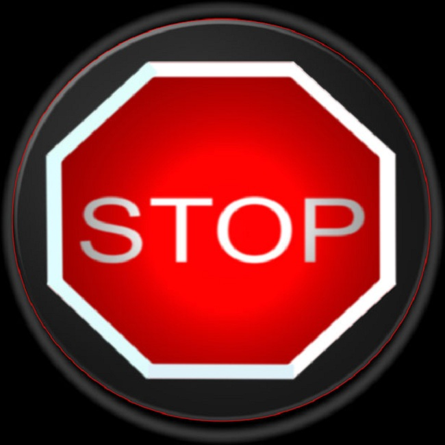 stop warning