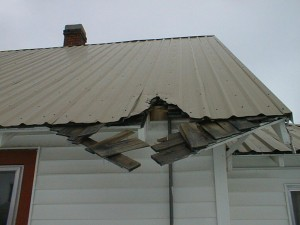 metal roof damage