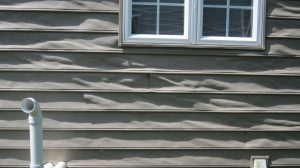 siding warped